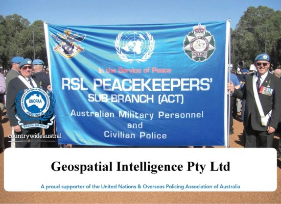 Geospatial Intelligence is a proud supporter of United Nations and Overseas Policing Association of Australia
